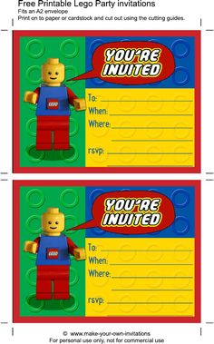 Printable Lego Birthday Invitations | Scribd