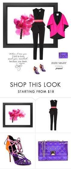 """""""Date Night: Jumpsuit Style"""" by maitepascual ❤ liked on Polyvore featuring Dot & Bo, Roksanda, Pierre Hardy, Hervê Guyel, Milly and DateNight"""