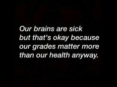 Our brains are sick