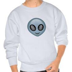 Extraterrestrial Alien Emoji Pull Over Sweatshirts