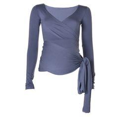 KICKER CLOTHING   Long-Sleeved Wrap Top in Indigo - Moms and Maternity - kinderelo.co.za