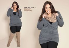 I know this is a plus sized outfit, but I LOVE THE OUFIT! Great fall look. Plus... SHE'S GORGEOUS.
