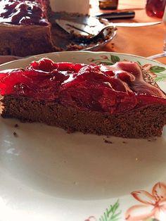 Schoko-Kirsch-Kuchen ohne Mehl und Zucker (Rezept mit Bild) | Chefkoch.de