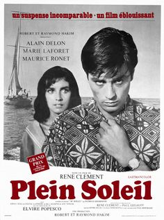 "Cartel Francés de ""Plein soleil"" (1960)"