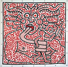 Keith Haring - Untitled, 25 août 1983