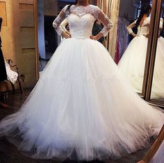Specials Long Sleeve Corset Wedding Dress  From High-Ranking Online Seller Dailyspecialsdress