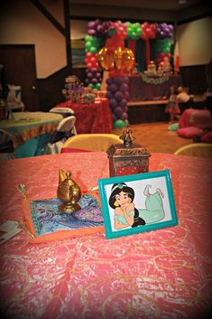 Princess Jasmine birthday party table! See more party ideas at CatchMyParty.com!