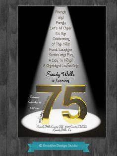 75th Birthday Party Ideas   75th Birthday Bash Custom Designed by ...   Party Ideas