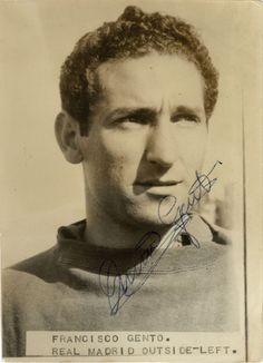 Francisco Gento. Real Madrid y España. Fotografía original autografiada.