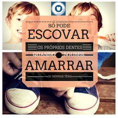 Dica prática para saber quando seu filho está pronto para escovar os dentes sem ajuda!