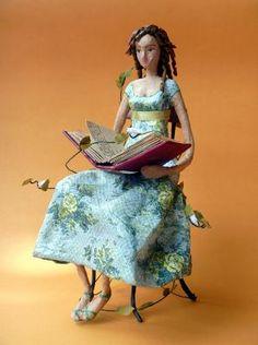 """Carolina"" by Marcella Ferreira...papier mache"