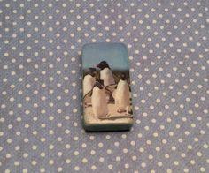 Needle Minder crossstitch, Cross Stitch, needlepoint, penguins, magnetic minder, needle nanny, embroidery, magnetic needleminder crosstitch by DaintyDotsDecoupage on Etsy