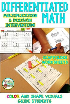 Math intervention strategy for multiplication & long division! Math Division, Long Division, Multiplication And Division, Multiplication Practice, Maths, Education Quotes For Teachers, Teacher Blogs, Teacher Resources, Teaching Strategies