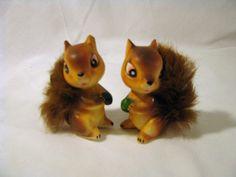 Set of Two Porcelain Squirrel Figurines by SandridgeCityVintage, $12.00