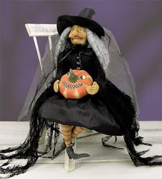 Lunella Witch Cloth Halloween Doll by Joe Spencer