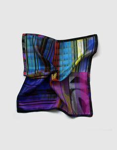Mens Pocket Square Four-Tone Printed Silk by DesignedByImaPico