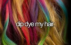 Oh I will someday!!!!! What color should I do?? My hair color is dark brown!! Comment the color please!