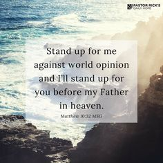 """God is telling you to make a stand for his truth: """"Do not be afraid; keep on speaking, do not be silent."""" Acts 18:9 #DailyHope"""
