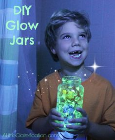 DIY Glow Jars to catch fairies with ALittleClaireification.com #PlaidSummerKids #Crafts #DIY