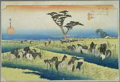 Hiroshige - The Fifty-three Stations of the Tōkaidō 39th station : Chiryu