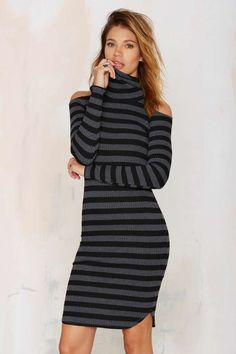 Earn Your Stripes Turtleneck Dress | Shop Clothes at Nasty Gal!