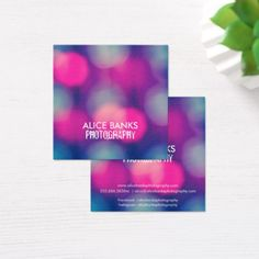 Blurry Lights Business Cards