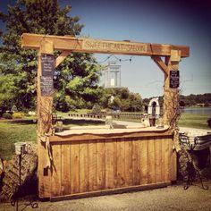 #Rustic #wedding bar - Find more like this at http://www.myweddingconcierge.com.au