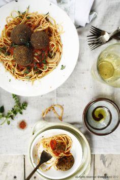 Spaghetti & EggplantBalls