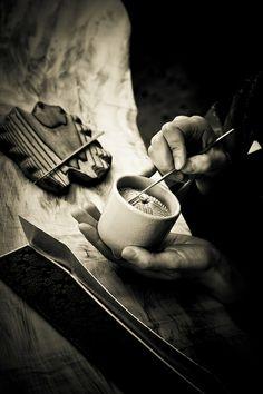 Preparing the incense for Japanese tea ceremony  Préparer l'encensoir by Stéphane Barbery on Flickr