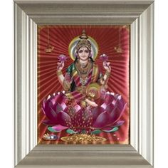 Frame Picture of Goddess Lakshmi Goddess Lakshmi, Marigold, Make It Simple, Picture Frames, Create Your Own, India, Pictures, Painting, Art