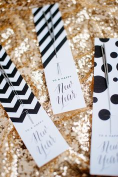 New Year's Eve Party Ideas....pull together a party in no time with these festive ideas.