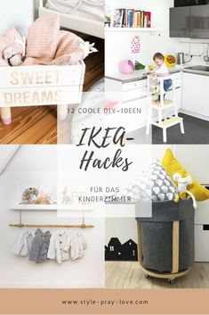 diy hacks for kids 12 coole IKEA-Hacks frs Kinderzimmer style-pray-love Decoration Bedroom, Room Decor Bedroom, Diy Home Decor, Ikea Closet Hack, Ikea Hacks, Ikea Organization Hacks, Diy Bebe, Kura Bed, Ikea Storage