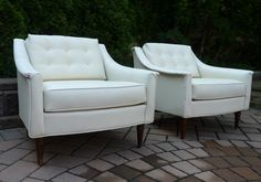 PAIR mid century MODERN LOUNGE CHAIRS by SELIG - $1250 - http://circa60.blogspot.com/