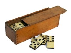 Antique Domino Set. French Domino Tile Game. by LeBonheurDuJour