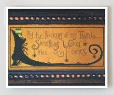Something Wicked  counted cross stitch by thecottageneedle on Etsy, $8.00