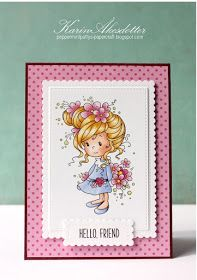 Today I'm playing along with some fun challenges:   I used the colors from : theheartdesires     simonsaysstampblog - cute  htt...