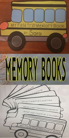 These Bus Shaped Field Trip Books are Great for End of Year Projects. You get two versions with this set. Class Books, and Student Books. Students will write, color, draw, and glue photos in these books for a Keepsake Field Trip Memory Book.