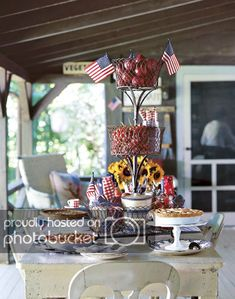 These patriotic of July party ideas will make your bash one for the books. Check out our games, food, decorations, favors and more. 4th Of July Party, Fourth Of July, Picnic Desserts, Picnic Recipes, Picnic Foods, 4th Of July Desserts, Patriotic Decorations, Patriotic Party, Patriotic Crafts