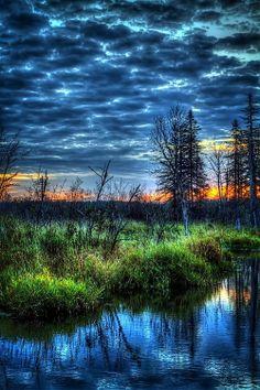 Sunset, Northern Maine