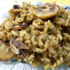Mushroom Rice With Onion & Shallots Recipe