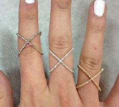 criss-crossed rings.