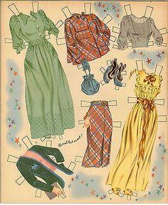 Picture 5 of 10 June Allyson, 1950s Fashion, Vintage Fashion, Paper Dolls Printable, Barbie Skipper, Bobe, Vintage Paper Dolls, Fashion Fabric, Fashion Art
