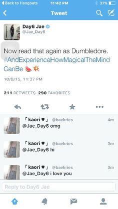 Because he is a low key potterhead #JAE #DAY6