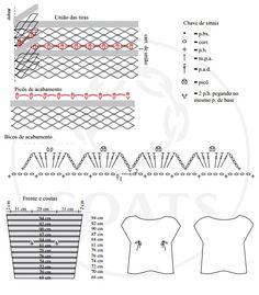 Criação e execução – Noemi Fonseca para Coats Corrente   Tamanho – 38-40   Material   •   Cisne Geniale Mel (nov. 100 g): 1 nov. n...
