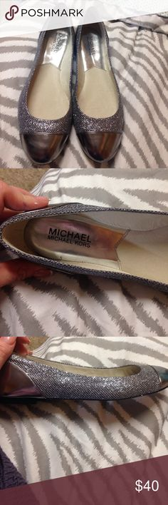 Sparkly Michael Kors Flats *Reposhed Sparkly Michael Kors flats. I wore these at my best friend's wedding when my feet couldn't take the heels anymore and they were super comfortable. Michael Kors Shoes Flats & Loafers