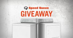 Enter to Win a Commercial-Grade Top Loan Washer and Dryer from Speed Queen!  Up to $2,000 Value! http://woobox.com/rduaw8/fyyrsz