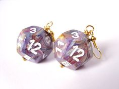 D12 dice earrings dice jewelry dnd dungeons and by MageStudio, $20.00