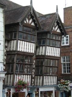 Shrewsbury Tudor Houses love the way they lean