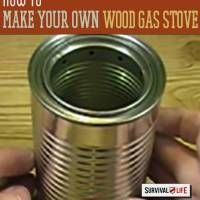 A portable stove in your bug out bag will ensure that you can prepare food to get you through the first critical 72 hours. You don't even need to buy a cheap, light one because you can make your own little stove from a pair of cans. Apart from being super inexpensive, it uses wood