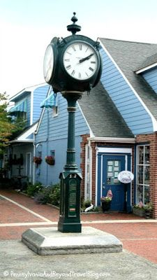 Cape May Town Clock located in the Washington Street Mall in Cape May, New Jersey
